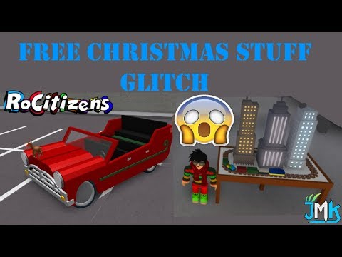 Roblox Free Stuff Glitch Roblox Rocitizens How To Get The Sleigher Car And The Train Table Glitch New Christmas Update دیدئو Dideo