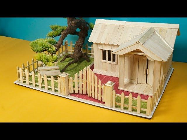 Stik Eskrim Cara Membuat Miniatur Rumah Dari Kardus Dan Stik Kumpulan Cara