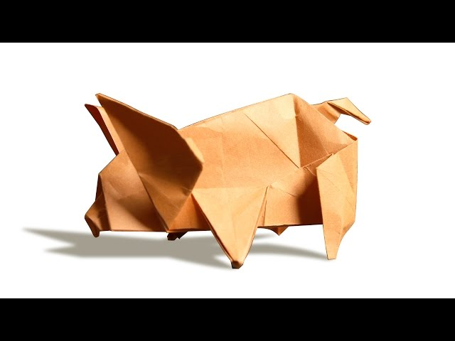 How to make origami Pig face - YouTube   480x640