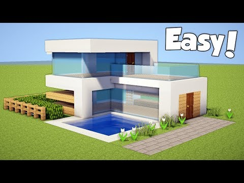 Minecraft How To Build A Small Easy Modern House Tutorial 20 دیدئو Dideo