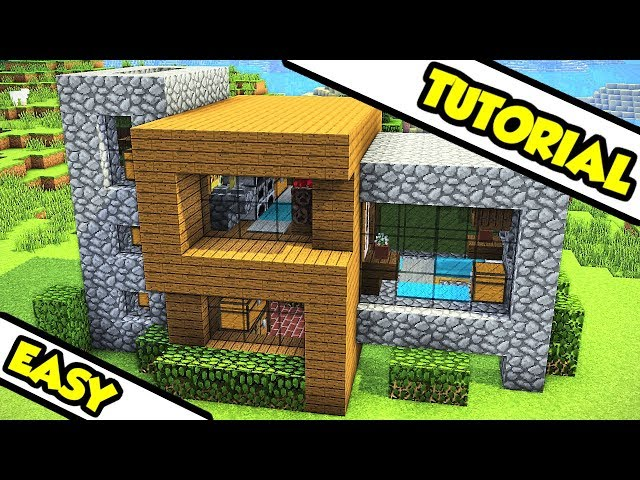 Minecraft Survival Modern House Tutorial How To Build دیدئو Dideo
