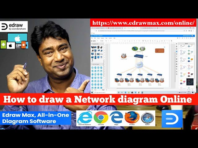 How To Draw A Network Diagram Online Practical Demo With Edrawmax Online Www Edrawmax Com Online دیدئو Dideo
