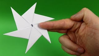 How to make a Paper Ninja Star (Shuriken) very easy - Origami ... | 180x320