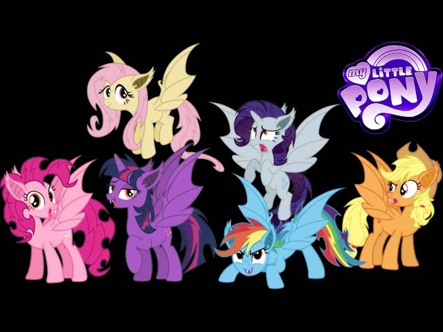 My Little Pony Transforms Into Vampire Bats - Color Swap Mane 6 MLP -  Coloring Videos For Kids دیدئو Dideo