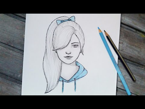 رسم سهل تعليم رسم بنت بقلم الرصاص بطريقة سهلة وبسيطة طريقة رسم
