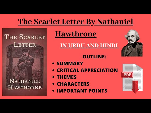 The Scarlet Letter By Nathaniel Hawthrone | IN URDU AND HINDI | Summary |  Theme | Characters | دیدئو dideo