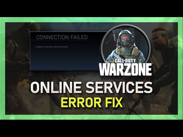 Modern Warfare How To Fix Unable To Access Online Services Connection Failed Problem دیدئو Dideo Другие видео об этой игре. dideo
