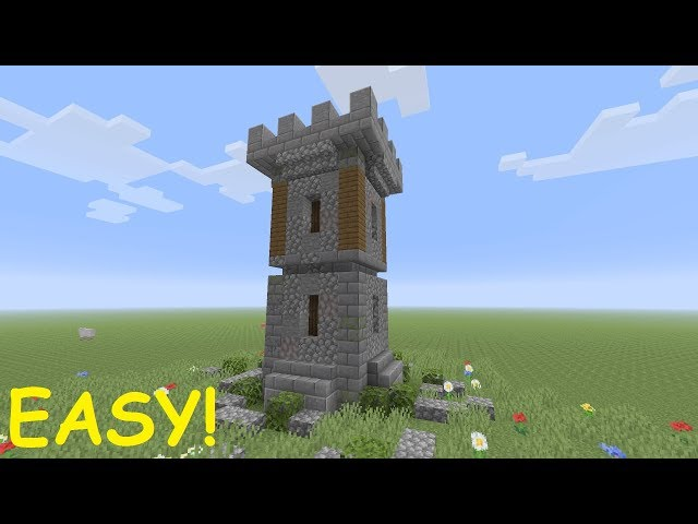 Minecraft Medieval Castle Tower Tutorial Easy دیدئو Dideo