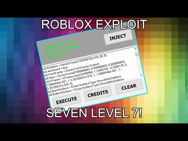 New Roblox Exploit Hack Seven Full Lua Executor W Jailbreak Cmds Fe Scripts And More دیدئو Dideo