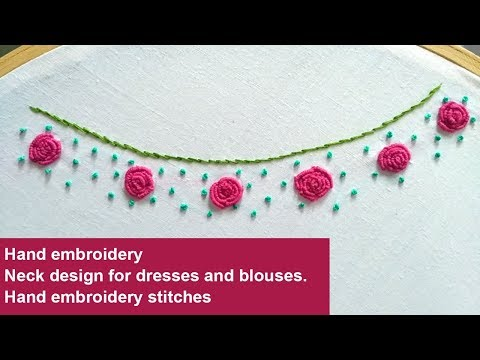 Hand Embroidery Designs For Neck Neckline Design For Dresses Embroidery Designs دیدئو Dideo,Jamaican Toe Nail Designs