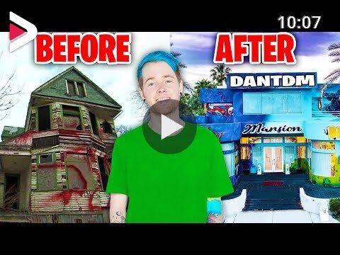 Dantdm Roblox Battle Royale Youtubers Houses Then And Now Dantdm Morgz Ali A Lazarbeam Ninja دیدئو Dideo