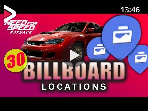 All Billboard Locations Need For Speed Payback All 30 Billboard