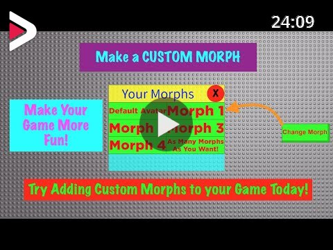 Add A Working Custom Morph Gui To Your Game Today Roblox دیدئو