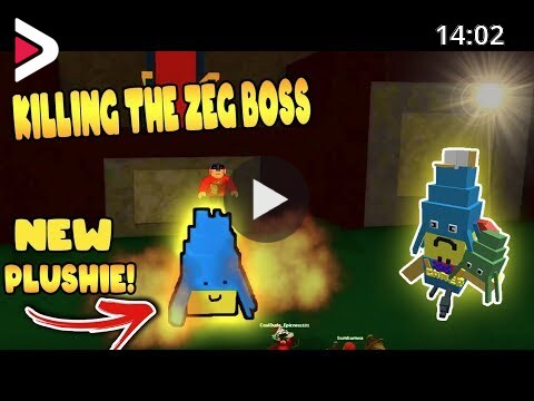Code For Plushie In Roblox Build A Boat Killing The Zeg Boss New Plushie Build A Boat For Treasure Roblox دیدئو Dideo