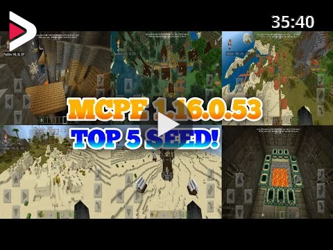 Top 5 Seeds Minecraft Pe 1 16 0 53 New Update Top 5 Seed For Minecraft Pe Minecraft Pe 2020 دیدئو Dideo