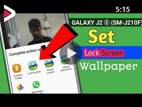 How To Set Lock Screen Wallpaper In Samsung J2 Pro J2 2016 دیدئو Dideo