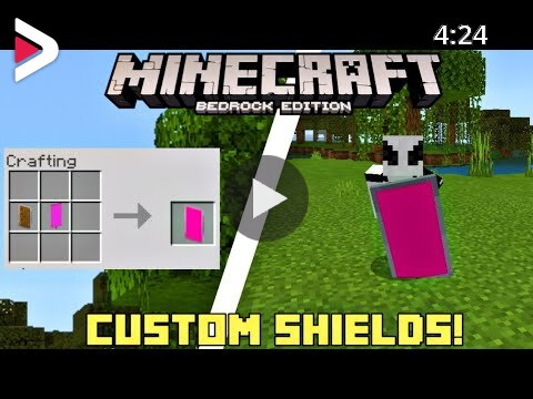 How To Make Custom Shields In Minecraft Pe 1 10 0 4 Minecraft Bedrock Edition دیدئو Dideo
